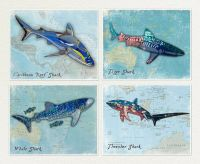Shark Wall Art.Great White,thresher, Whale Shark,Ocean
