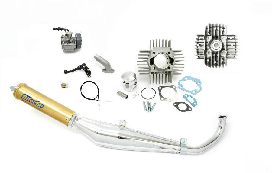 Puch Moped 70cc Cylinder, Carburetor & Exhaust Package Kit