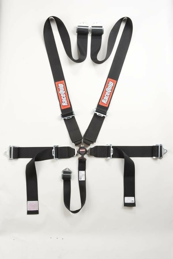 Racequip Black 5 Point Harness Racing Safety Seat Belt Sfi