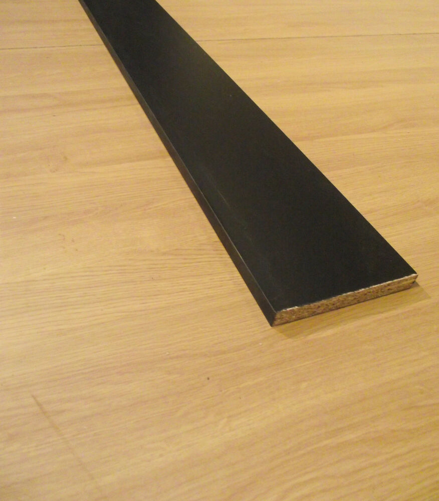 4x 28M MATT BLACK Kitchen Bedroom UNIVERSAL PLINTH