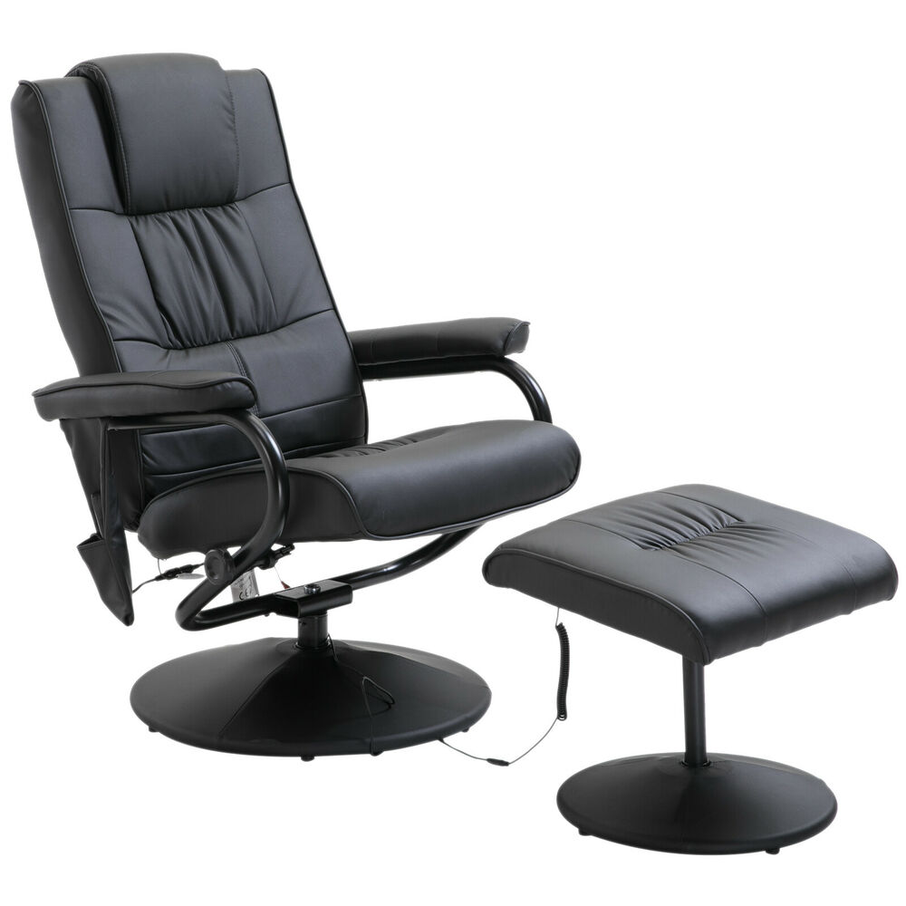 Electric Massage Chair Sofa Recliner Foot Stool 10 Point