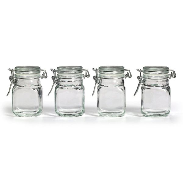 Square Glass Jars with Lids