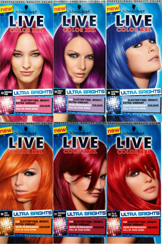 New Schwarzkopf Live Hair Color XXL Ultra Brights Vibrant