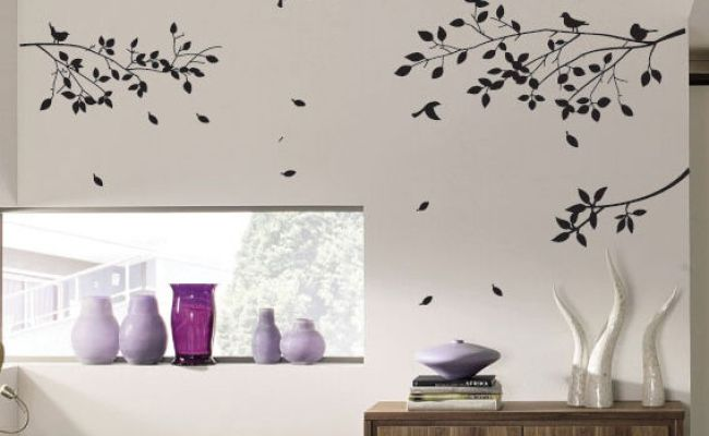 Large Tree Branch And Birds Art Wall Vinyl Stickers Diy