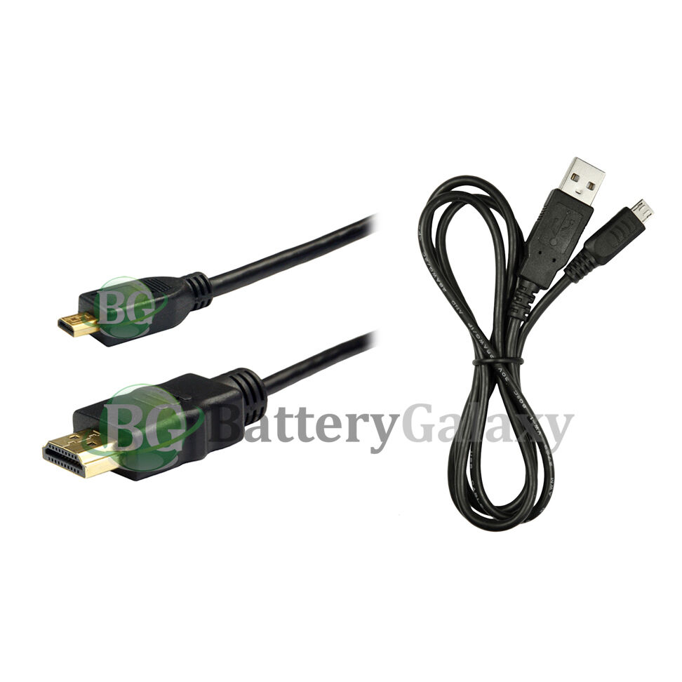 Micro 6FT HDMI Cable+USB Data Cable for Smartphone Tablet