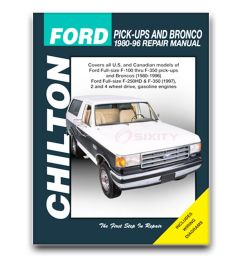 details about chilton repair manual for 1980 1996 ford f 150 shop service garage book cb [ 1000 x 1000 Pixel ]