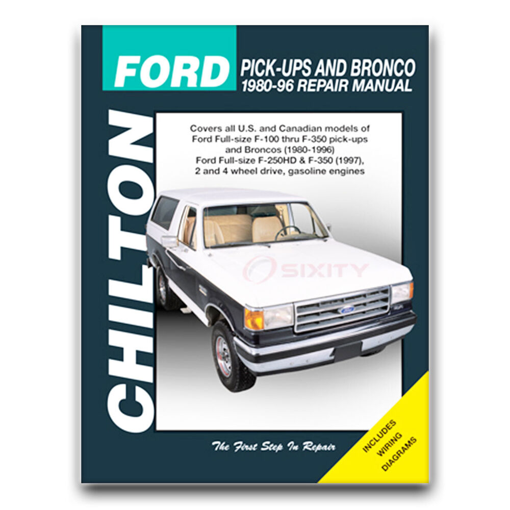 hight resolution of details about chilton repair manual for 1980 1996 ford f 150 shop service garage book cb
