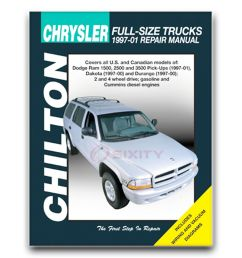 details about chilton repair manual for 1997 2001 dodge ram 1500 shop service garage fq [ 1000 x 1000 Pixel ]