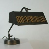 ART DECO Bauhaus Bronzed PIANO LAMP Table Lamp BEDSIDE ...