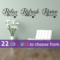 RELAX refresh REVIVE quote wall sticker art decal bedroom ...