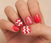 chevron zig zag thick nail decal