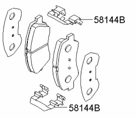 KIA 2012-2013 RIO OEM FRONT DISC BRAKE PAD KIT 58101 1RA01