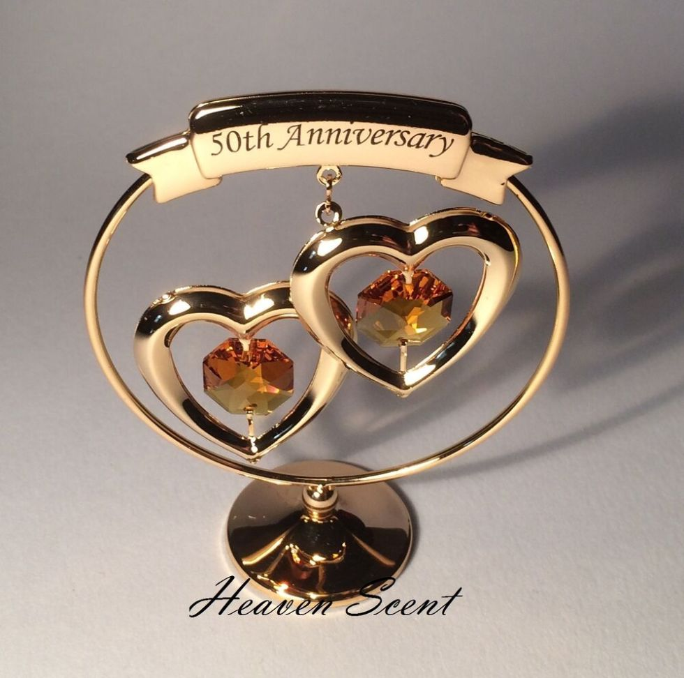 50th Golden Wedding Anniversary Gift Ideas Gold Plated+ ...