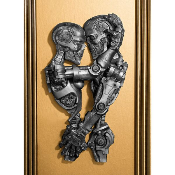 Steampunk Victorian Industrial Lovers Machine Embrace Wall