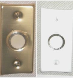 details about nutone push button lighted economy gold or white finish pushbutton new [ 1000 x 1000 Pixel ]