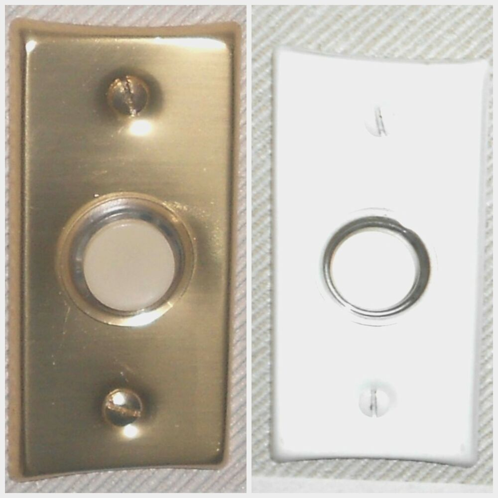 hight resolution of details about nutone push button lighted economy gold or white finish pushbutton new