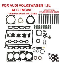 details about engine cylinder head gasket set turbo gaskets w bolts audi vw 1 8l aeb engine [ 900 x 900 Pixel ]