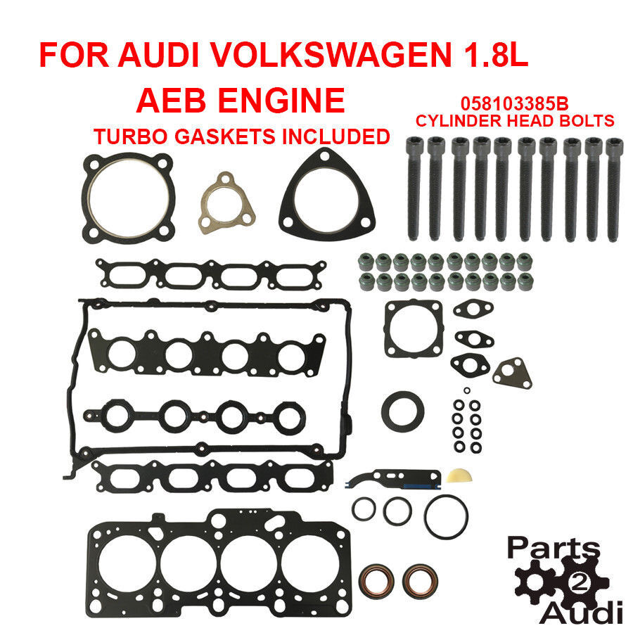 medium resolution of details about engine cylinder head gasket set turbo gaskets w bolts audi vw 1 8l aeb engine