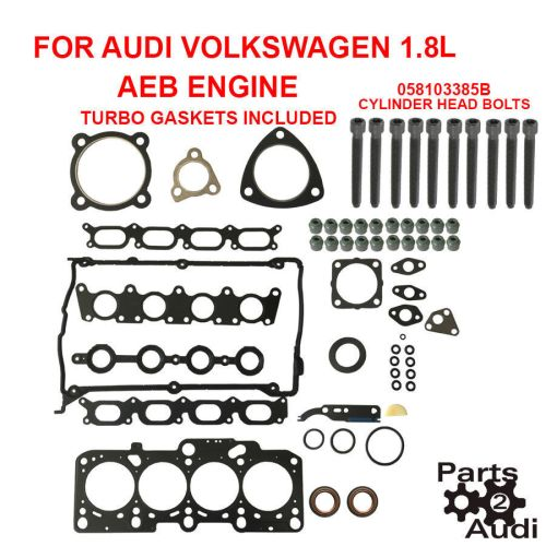 small resolution of details about engine cylinder head gasket set turbo gaskets w bolts audi vw 1 8l aeb engine
