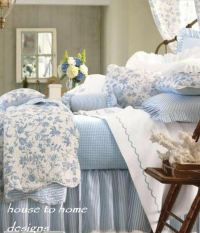 BRIGHTON BLUE Full / Queen QUILT SET : WHITE FRENCH TOILE