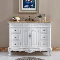 "48"" Lavatory Bathroom Single Sink Vanity Cabinet ..."