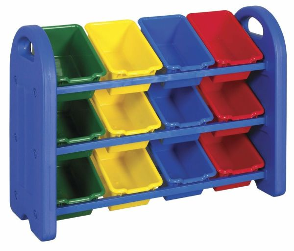 Ecr4kids 3 Tier Kids Toy Organizer 12 Durable Storage