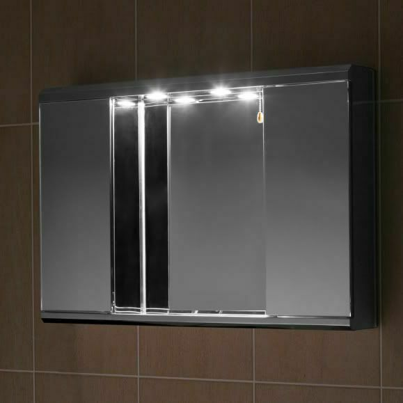 Stainless Steel Bathroom Cabinet Mirror With Down Lights