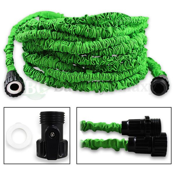 100 Feet 100ft Expandable Flexible Garden Lawn Water Hose Nozzle Green 200 Sold