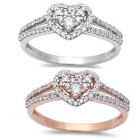 .30ct Heart Shaped Halo Diamond Engagement Wedding Ring
