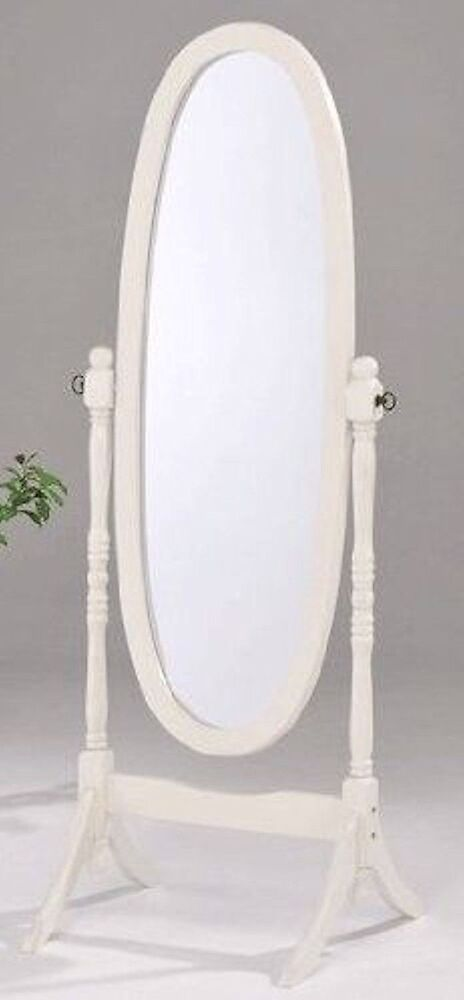 Swivel Full Length Wood Cheval Floor Mirror WhiteBlackCherry Finish New  eBay