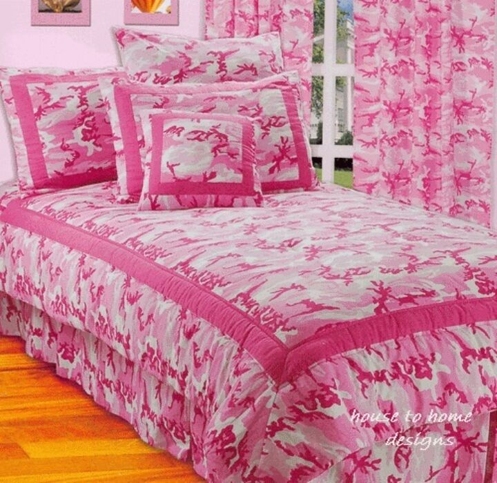 HOT PINK CAMO 3pc Twin COMFORTER SET