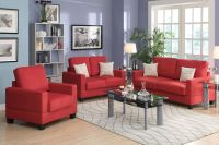 Modern Style 3 Pc Sofa Set Sofa Loveseat & Chair