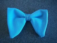 New Powder Blue bow tie - mens clip on style - 70's ...