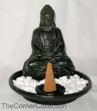 TRADITIONAL BUDDHA ZEN GARDEN STICK or CONE INCENSE HOLDER