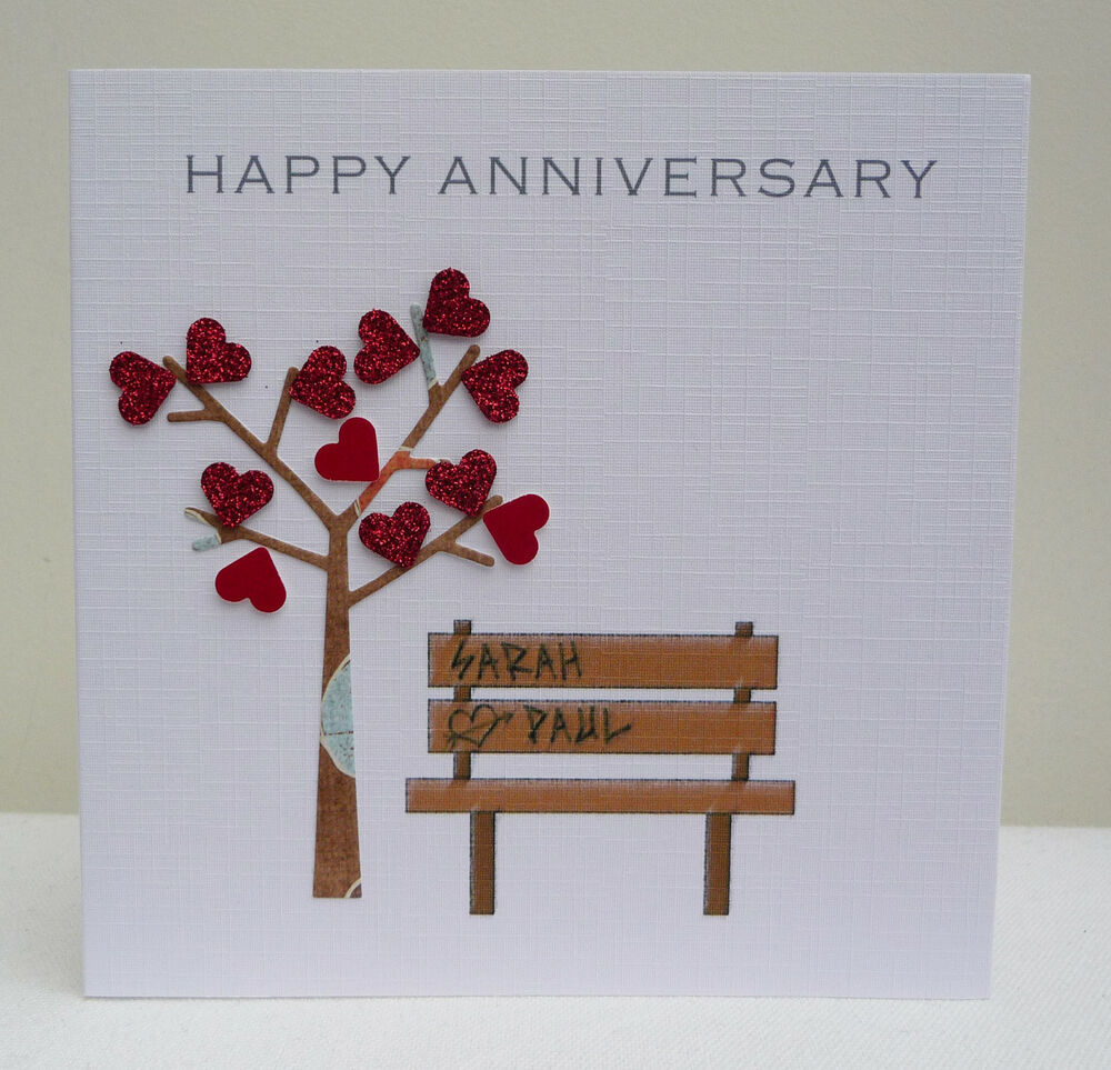 Personalised Anniversary Card Husband Wife Son Daughter