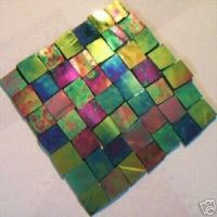 100 TROPICANA IRIDESCENT MOSAIC TILE STAINED GLASS TILE ...