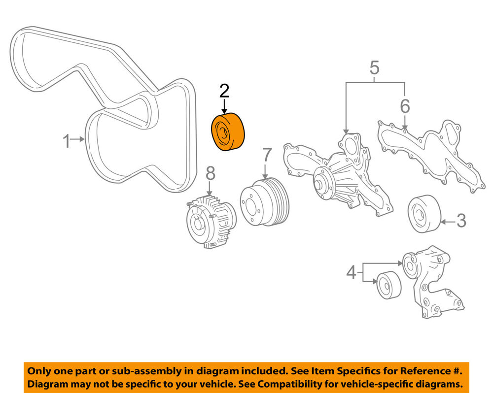 hight resolution of toyota oem 05 16 tacoma serpentine drive belt idler pulley idler pulley diagram 99 jeep details