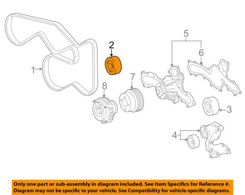 small resolution of toyota oem 05 16 tacoma serpentine drive belt idler pulley idler pulley diagram 99 jeep details