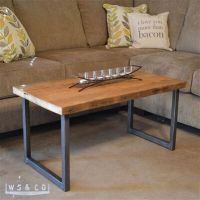 Reclaimed Barn Wood Coffee Table with Metal Legs