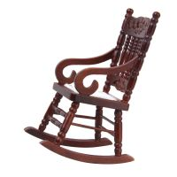 Vintage Brown Wooden Rocker Rocking Chair for 1:12 ...