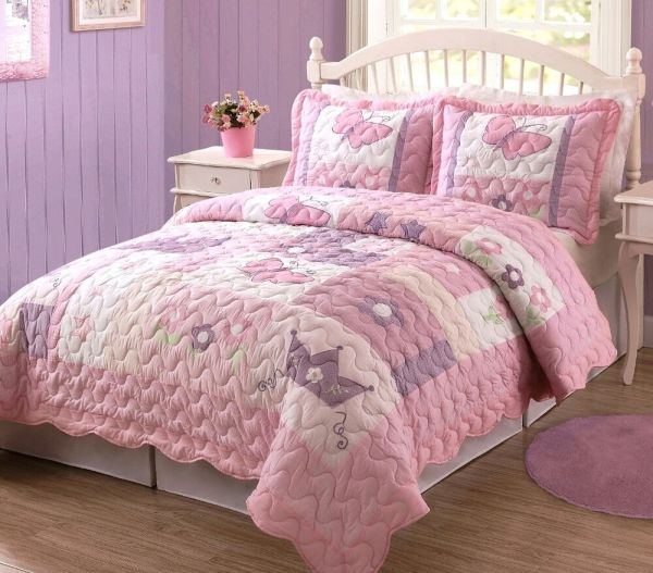 Princess Butterfly Comforter Sets