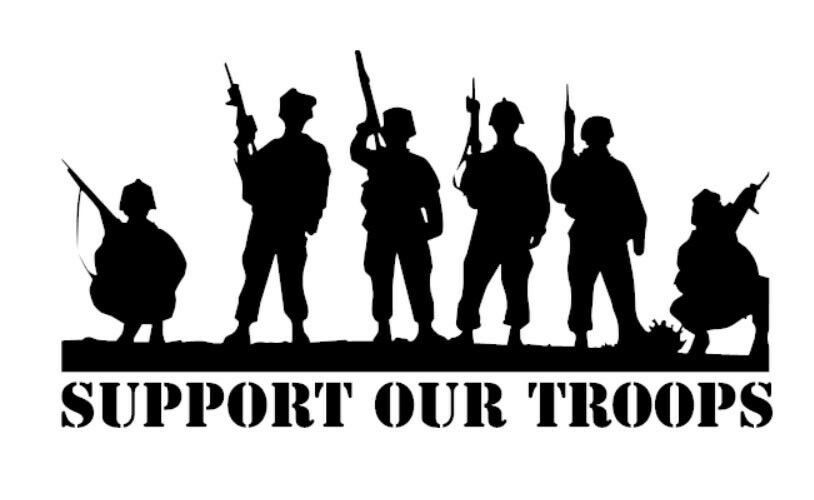Support Our Troops Military Army Marines Car Truck Window