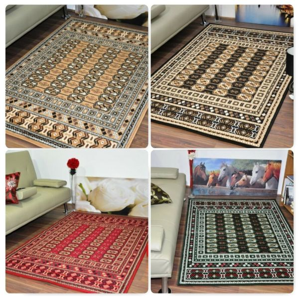 Extra Large Modern Traditional Bokhara Area Rugs