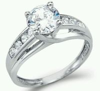 Solid 14k White Gold 1.50TCW Round CZ Engagement Solitaire ...