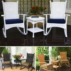 2 Chair Bistro Set Relax The Back Kneeling 3 Pc Rocker Resin Wicker Patio Table Outdoor Rocking Chairs Furniture | Ebay