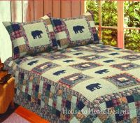 Cabin And Lodge Bedding. Bear Medley Full Queen Quilt Set ...