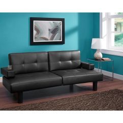 Leather Full Size Sleeper Sofa West Elm Henry Futon Bed Split Back Faux Adjustable ...