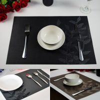 NEW Kitchen PVC Leaves Placemats Vintage Insulation Dining ...