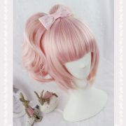 lolita fashion pink ombre wig long