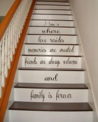 Stairs Vinyl Decal Quote Family Stairway Decor Home Stair ...